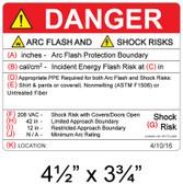 Danger - Arc Flash Hazard Label - Item #05-574