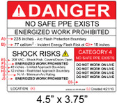 Danger - Arc Flash Hazard Label - Item #05-545