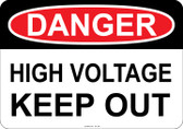 Danger High Voltage Keep Out, #53-106 thru 70-106