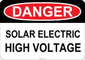 Danger Solar Electric High Voltage, #53-113 thru 70-113