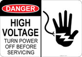 Danger High Voltage, Turn Power off before Servicing, Shocked Hand #53-116 thru 70-116