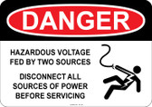 Danger Hazardous Voltage, Fed by two sources...#53-126 thru 70-126