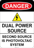 Danger Dual Power Source, #53-131 thru 70-131