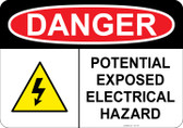 Danger - Electrical Hazard - Do Not Touch #53-134 thru 70-134