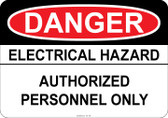 Danger Electrical Hazard - Authorized Personnel Only #53-138 thru 70-138