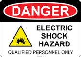 Danger Electric Shock Hazard - Qualified Personnel Only #53-142 thru 70-142