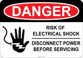 Danger Electric Shock Hazard - Qualified Personnel Only #53-145 thru 70-145