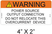 "Solar Warning Label - 4"" X 2"" - 3/16"" Letters - Item #05-216"