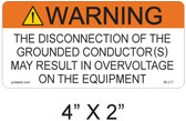 "Solar Warning Label - 4"" X 2"" - 3/16"" Letters - Item #05-217"
