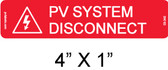 PV System Disconnect Label - PV Labels #03-340 - NEC 690.13(B)