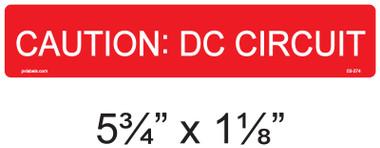 CAUTION: DC CIRCUIT - PV Labels #03-374