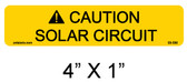 "Caution Solar Circuit Label - 1/4"" Letters - Item #05-330"