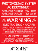 "Solar Warning Placard - 4"" x 4 1/2"" - Item #04-683"