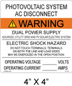 "Solar Warning Sign- 4"" x 4"" - Item #07-116"