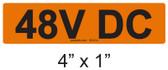 48V DC - PV Labels #30-014
