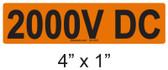 2000V DC - PV Labels #30-050