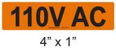 110V AC - PV Labels #30-210