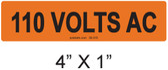 110 VOLTS AC - PV Labels #30-310