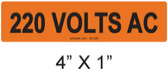 220 VOLTS AC - PV Labels #30-320