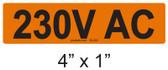 230V AC - PV Labels #30-222