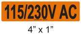 115/230V AC - PV Labels #30-252