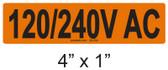 120/240V AC - PV Labels #30-254