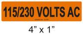 115/230 VOLTS AC - PV Labels #30-352