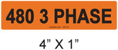480 3 PHASE - PV Labels #30-514