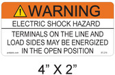 "Solar Warning Sign - 4"" X 2"" - 3/16"" Letters - Item #07-215"