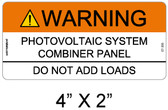 "Solar Warning Sign - 4"" x 2""- Item #07-355"