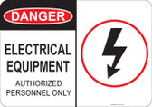Danger Electric Equipment - #53-149 thru 70-149