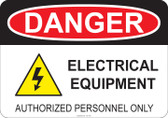 Danger Electrical Equipment - #53-150 thru 70-150