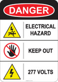 Danger Electrical Hazard, #53-213 thru 70-213
