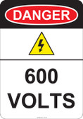 Danger 600 Volts, #53-225 thru 70-225