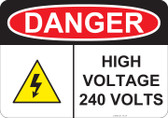 Danger High Voltage - #53-237 thru 70-237