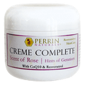 Perrin's Creme Complete Scent of Rose with Hints of Geranium 2oz