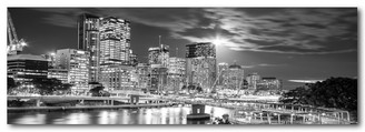 BRISBANE AT NIGHT - B & W