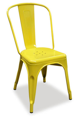 ... INDUSTRIAL; TOLIX CHAIR   YELLOW. Image 1