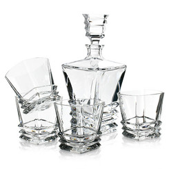 Royal Doulton - Crystal Prism Decanter & Tumbler Set