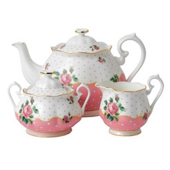 CHEEKY PINK TEAPOT SUGAR AND CREAMER SET