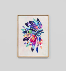 VIBRANT HEADDRESS FRAMED PRINT  Proudly designed and made in Australia with love.   Please allow 1-3 weeks manufacturing time, as this product is made to order.  Materials : framed print behind glass  Dimensions : 85 x 115 cm