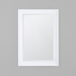 HELENA WHITE MIRROR 73X103CM.  TRADITIONAL STYLE MIRROR FEATURING A DETAILED WHITE FRAME.  AVAILABILITY: USUALLY SHIPS IN 2-4 WEEKS.