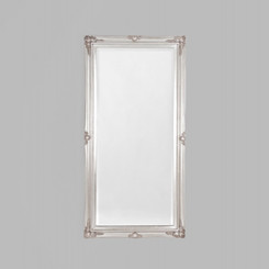 JULIETTE WHITE MIRROR 74X150CM.  TRADITIONAL STYLE MIRROR FEATURING A DETAILED SILVER FRAME.  AVAILABILITY: USUALLY SHIPS IN 2-4 WEEKS.