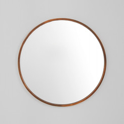 ARTHUR COPPER MIRROR.  OUR ARTHUR COPPER MIRROR ADDS A FINISHED TOUCH TO ANY ROOM OR SPACE.  AVAILABILITY: USUALLY SHIPS IN 2-4 WEEKS.