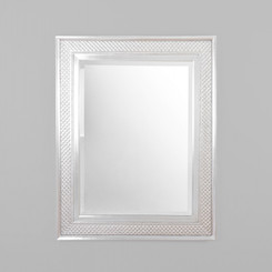 ARIEL MIRROR.  CONTEMPORARY MIRROR WITH SILVER FRAME DETAILING.  DIMENSIONS: 128W x 158H (CM)  AVAILABILITY: USUALLY SHIPS IN 2-4 WEEKS.
