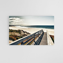 CANVAS PRINT: BOARDWALK BEACH