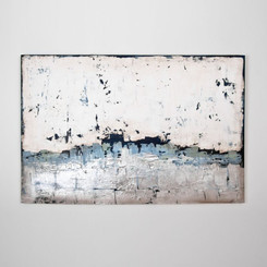PAINTING: BLUE MIST.  BLUE MIST ABSTRACT PAINTING BY AUSTRALIAN ARTIST SARAH BROOKE.  DIMENSIONS: 153W x 102H (CM)  AVAILABILITY: USUALLY SHIPS IN 2-4 WEEKS.