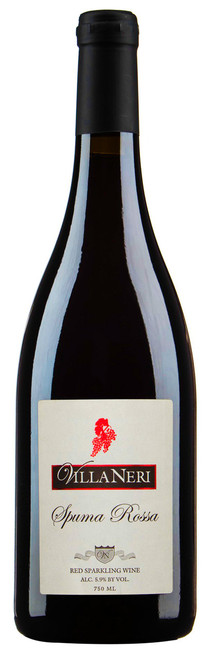 A bottle of Spuma Rossa Red Sparkling wine produced by Hopewell Valley Vineyards - one of many New Jersey wineries