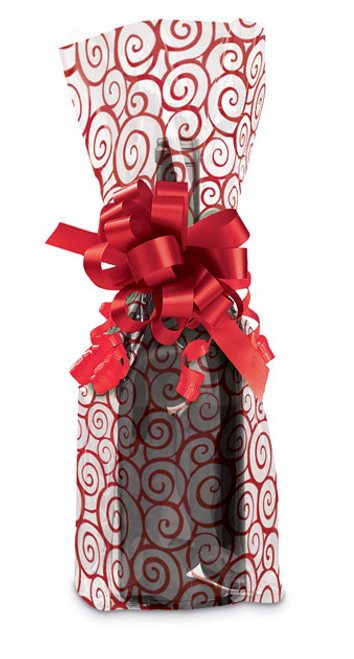 Cranberry Swirl Cello Bag