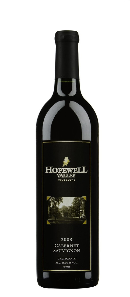 A bottle of Cabernet Sauvignon wine produced by Hopewell Valley Vineyards - one of many New Jersey wineries